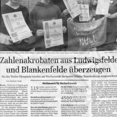 Zahlenakrobaten aus Ludwigsfelde und Blankenfelde überzeugen